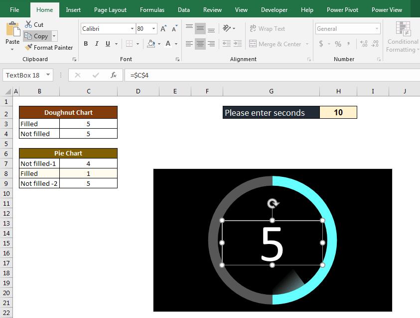 آموزش ایجاد اکسل زمان سنج شمارنده معکوس (تایمر) * ثانیه شمار معکوس 3 ایجاد اکسل زمان سنج شمارنده معکوس