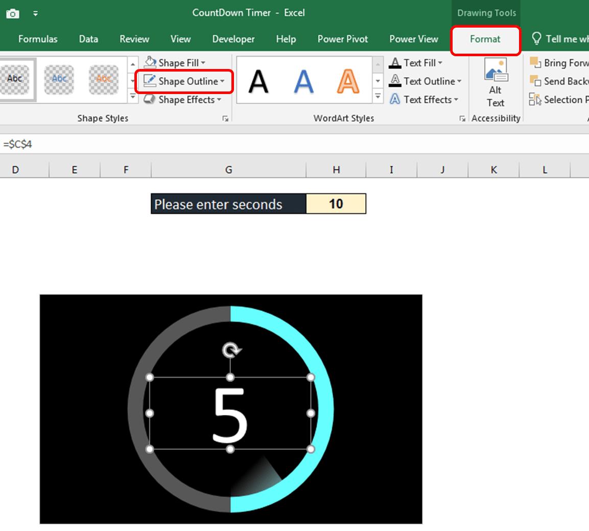 آموزش ایجاد اکسل زمان سنج شمارنده معکوس (تایمر) ثانیه شمار معکوس در اکسل (1)