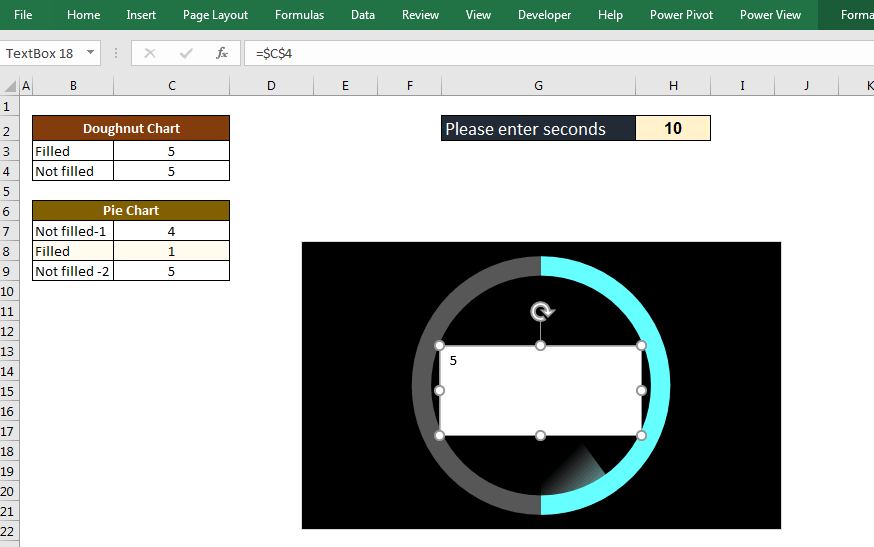 آموزش ایجاد اکسل زمان سنج شمارنده معکوس (تایمر) ثانیه شمار معکوس در اکسل